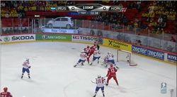 Три шайбы в третьем периоде и Россия громит Норвегию