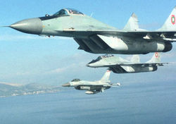 В Болгарии разбился МИГ-29, пилоты катапультировались