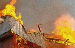 В Калининграде горел автосервис, едва не взорвались бензовозы