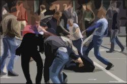 В переходе на Балаклавском проспекте ранены три человека