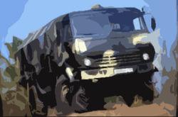 В Забайкалье сгорел военный КамАЗ с боеприпасами