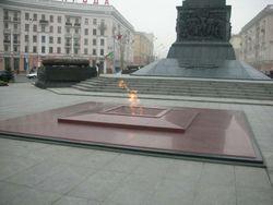 Вечный огонь на площади Победы в Минске
