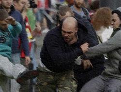 Видеозаписи побоища в Варшаве между поляками и россиянами