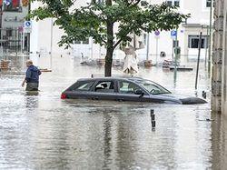 Европа затоплена высокой водой