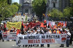 В Испании продолжается забастовка против трудового законодательства