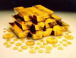 Стоимость золота понизилась ниже уровня в 1300 долларов