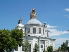 С купола Свято-Успенского собора сорвался рабочий