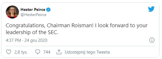 Твиттер Хестера Пирса