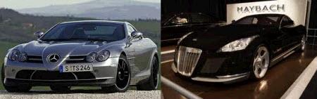 Mercedes SLR-Class и Maybach 62