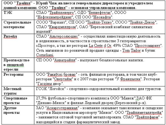 Структура активов ООО «Трайпл»