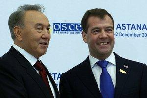 Назарбаев и Медведев