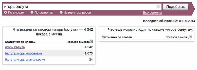 Балута в Яндекс