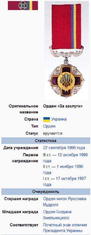 Награда Геннадия Москаля