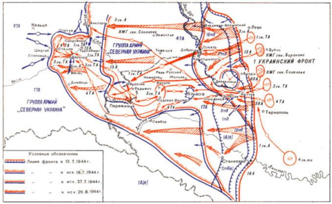 Карта танкового удара