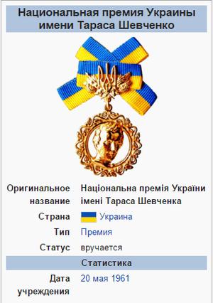 Награда Николая Руденко